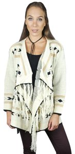 Other Tribal Tribal Blanket Wrap Fringe Sweater