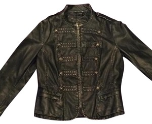 Gallery Black with gold accents Leather Jacket