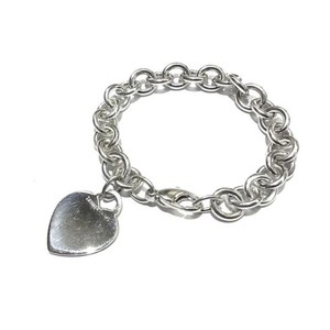 Tiffany & Co. Tiffany And Company Gorgeous Sterling Silver Heart Tag Charm Bracelet 100% Guaranteed Authentic Complimentary Tiffany Blue Polishing Cloth Included!!!