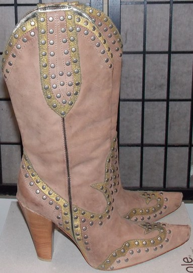 Cole Haan brown/gold Boots
