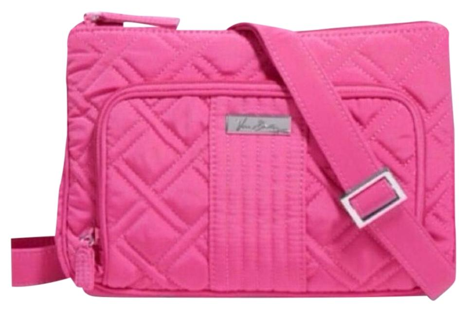 2a2aea3d5c Vera Bradley Quilted Hipster Pink Cotton Cross Body Bag - Tradesy
