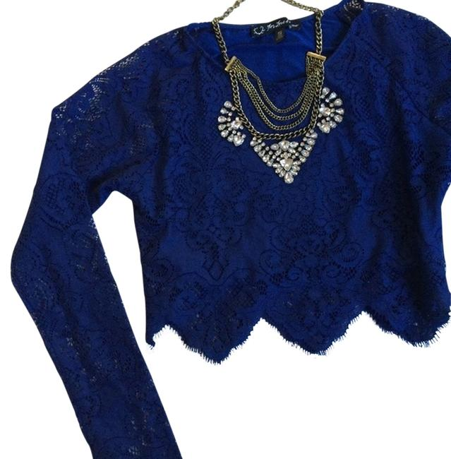 Preload https://item5.tradesy.com/images/for-love-and-lemons-blue-sapphire-and-midnight-crop-night-out-top-size-2-xs-1964044-0-2.jpg?width=400&height=650