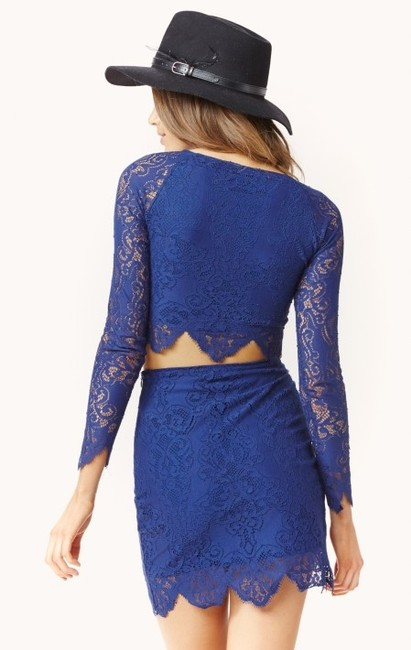 For Love & Lemons And Crop Free People Neiman Marcus Top Blue Sapphire