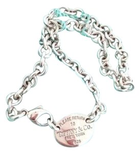 Tiffany & Co. Stunning Tiffany And Company Returned To Tiffany Oval Tag Necklace Sterling Silver 100% Guaranteed Authentic Complementary Tiffany Blue Polishing Cloth Included!!!