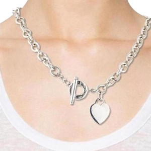 Tiffany & Co. Tiffany And Company Heart And Toggle Sterling Silver Necklace