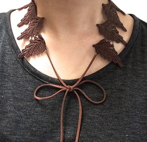 Elliot Francis Leaf collar Necklace