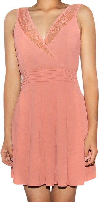 Preload https://item5.tradesy.com/images/unknown-draped-v-neck-work-dress-coral-1964099-0-0.jpg?width=400&height=650