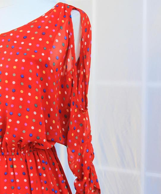 Other short dress CORAL Polka Dot Cold Off Printed on Tradesy