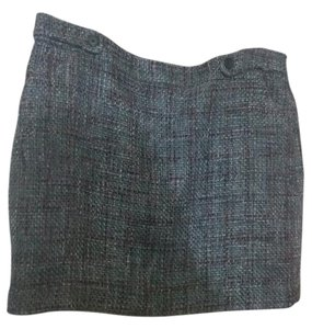 Ann Taylor LOFT Mini Lined Sexy Mini Skirt Gray