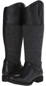 Ariat Leather Wool Water-repellant Black Boots