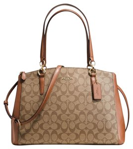 Coach 36721 F36721 Carryall Satchel in Saddle/khaki