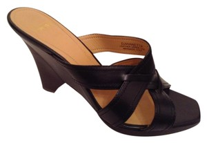 Circa Joan & David Wedges Size 8 M Black Mules