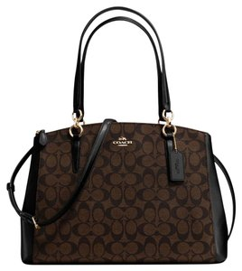 Coach 36721 F36721 Carryall Satchel in Brown and black