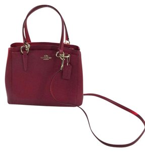 Coach Carryall Minetta Leather Satchel in True Red