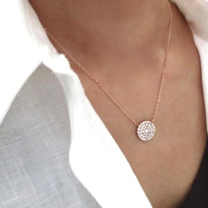 Elliot Francis Rose Gold Pave Necklace