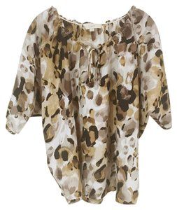 Ann Taylor LOFT Top Brown, Tan, Gray, White, Black