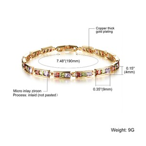 Other 18K Gold plated Cubic Zirconia Tennis Bracelet