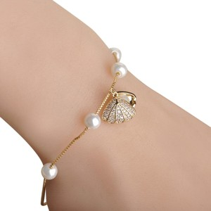 C collection Natural Freshwater pearl bracelet CZ Zircon