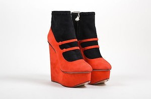 Charlotte Olympia Red Black Boots