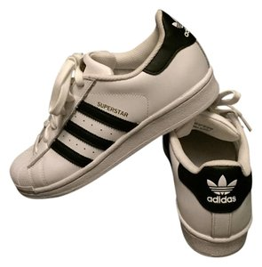 adidas White and black leather Athletic