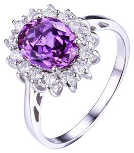 C collection 3.2 ct created Alexandrite sapphire ring 925 sterling silver