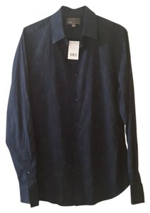 Vince Vine Men Button Down Shirt Blue