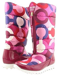 Coach Winter Snow Apres Ski Berry Boots
