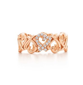 Tiffany & Co. 18K Rose Gold Loving Heart Band Ring