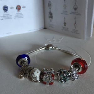 PANDORA Pandora Christmas Charm & Murano Set of 4