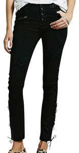 Free People Skinny Size 28 Laced Skinny Jeans