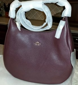 Coach Leather Large Hobo Bag