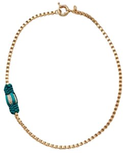 Lee Angel Turquoise Ribbon Station Necklace