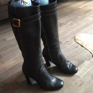 Chloé Chloe Heel Knee-high Buckle Black Boots