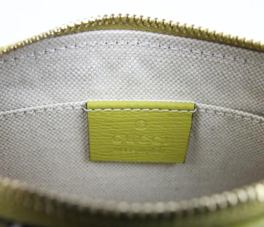 Gucci Heartbeat Leather Pouch Yellow 7309 Clutch