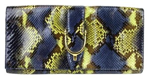 Gucci Soft Stirrup Python Clutch Evening Bag Large 304719 Multi Color 4293