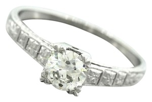 Ladies Antique 1920s Art Deco 0.60ct Diamond Platinum Engagement Ring