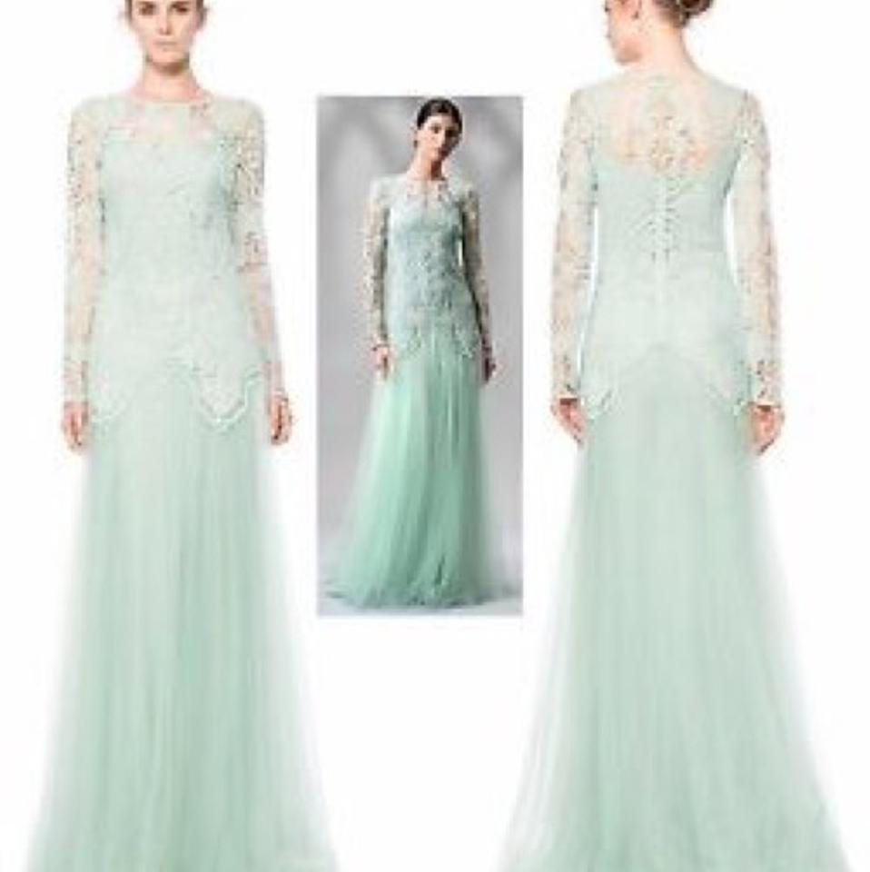 Tadashi Shoji Mint Green Apa2142l Long Formal Dress Size 8 (M) - Tradesy