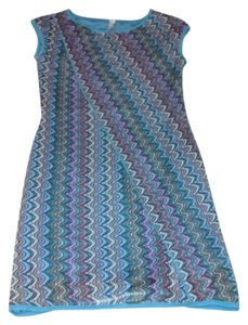 Lapis short dress Multi-Color Woven Cap Sleeve Fully Lined on Tradesy