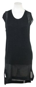 Maxi Dress by Helmut Lang Sleeveless Drape Black Knee-length