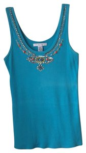 Laundry by Shelli Segal Top Turquoise with jewels