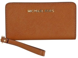 Michael Kors Leather Wallet Wristlet in Brown