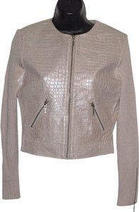 Phosphorus beige Leather Jacket