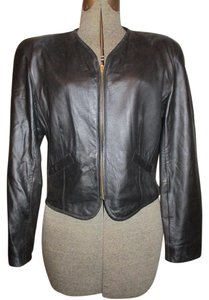 Liz Claiborne Leather black Leather Jacket