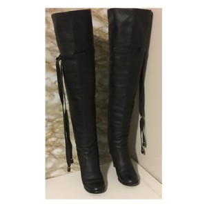Chloé Chloe Long Leather Black Boots