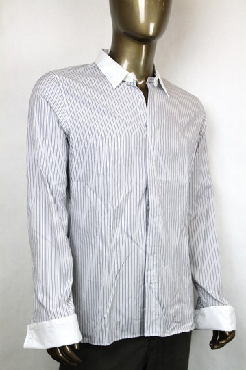 Gucci White/Blue White/Blue Classic Stripe Evening Skinny Dress 41/16 304857 9040 Shirt