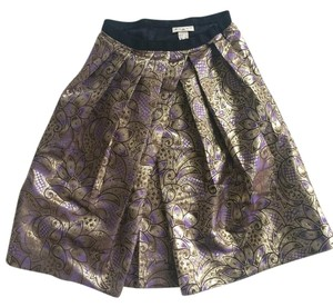Marni Glitter Holiday Party Skirt Purple and Gold