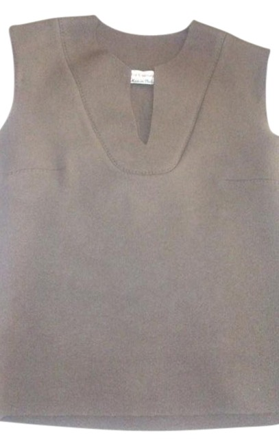 Preload https://img-static.tradesy.com/item/19644009/brown-thick-felt-made-in-italy-with-leather-tunic-size-4-s-0-1-650-650.jpg