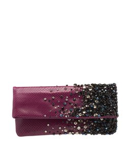 Jimmy Choo Crystal Rhinestone Purple Clutch