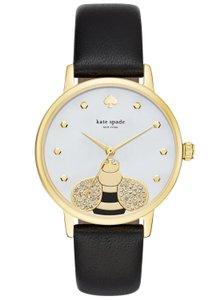 Kate Spade Kate Spade KSW1082 Bumblebee Gold tone Black Leather Band Watch