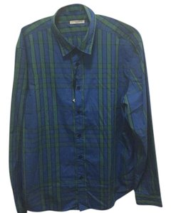 Burberry Button Down Shirt Blue